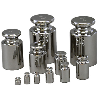 Set of Stainless Steel Calibration Weights
