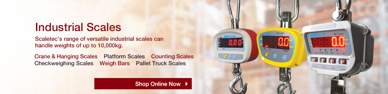 Scaletec's range of industrial scales can handle weights up to 10,000kg